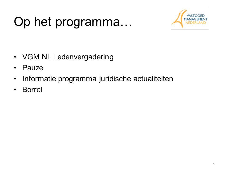 Begroting 2012 13 Stemt de VGM NL ledenvergadering in met de VGM NL begroting 2012?
