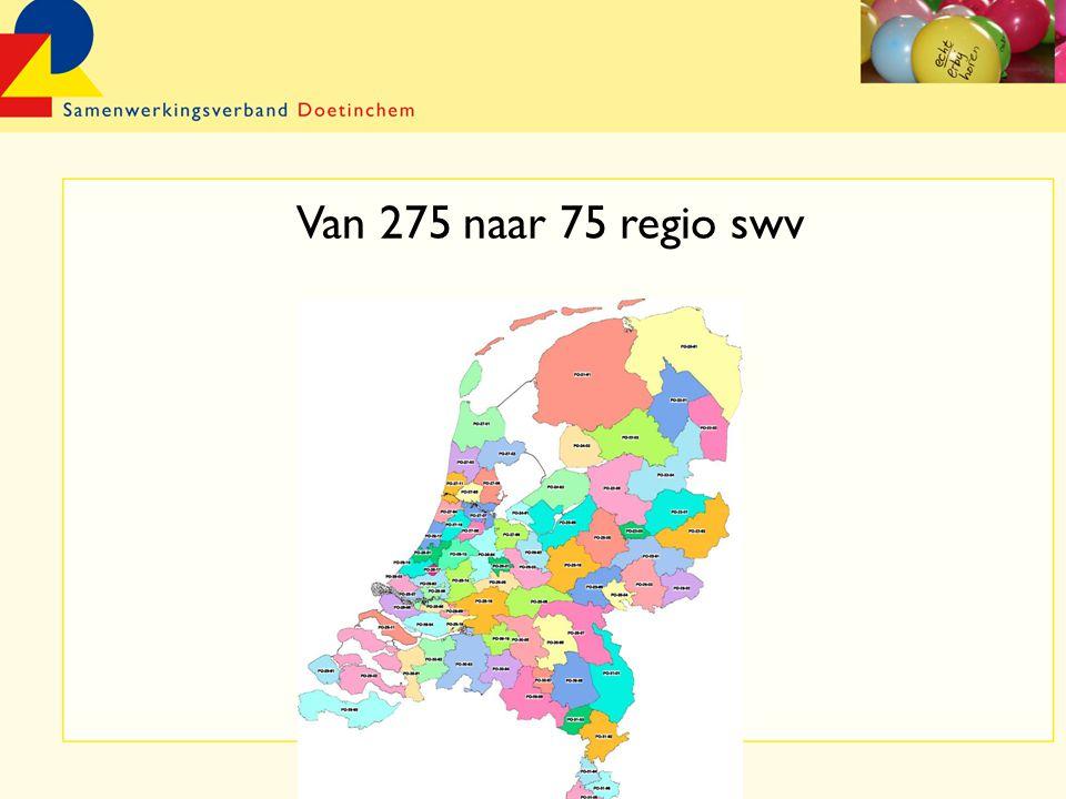Van 275 naar 75 regio swv