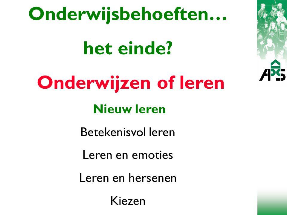 Onderwijsbehoeften… het einde.