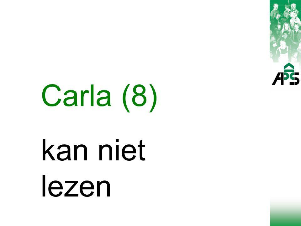 Carla (8) kan niet lezen