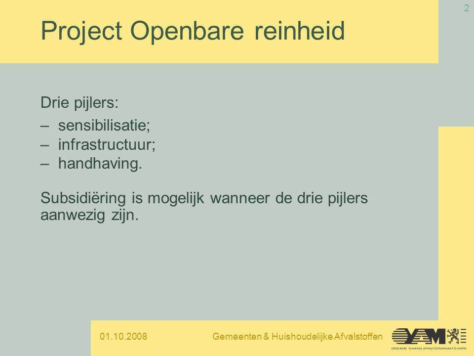 01.10.2008Gemeenten & Huishoudelijke Afvalstoffen 3 Welke items .