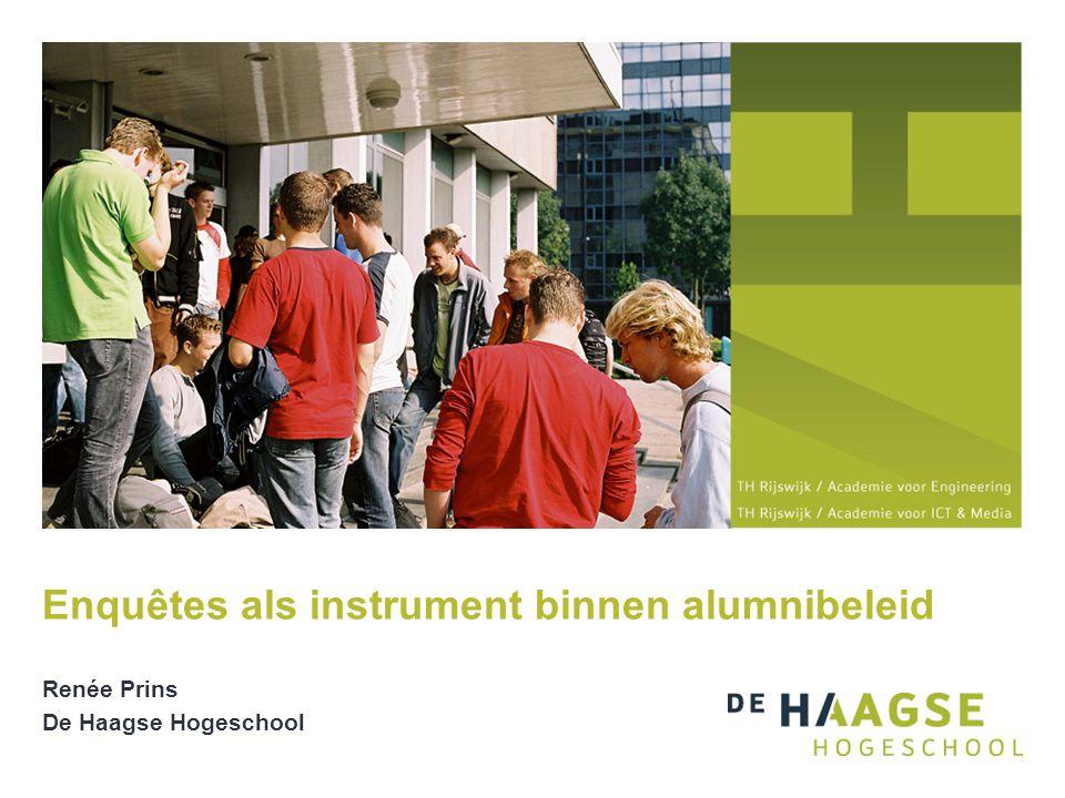 Renée Prins De Haagse Hogeschool Enquêtes als instrument binnen alumnibeleid