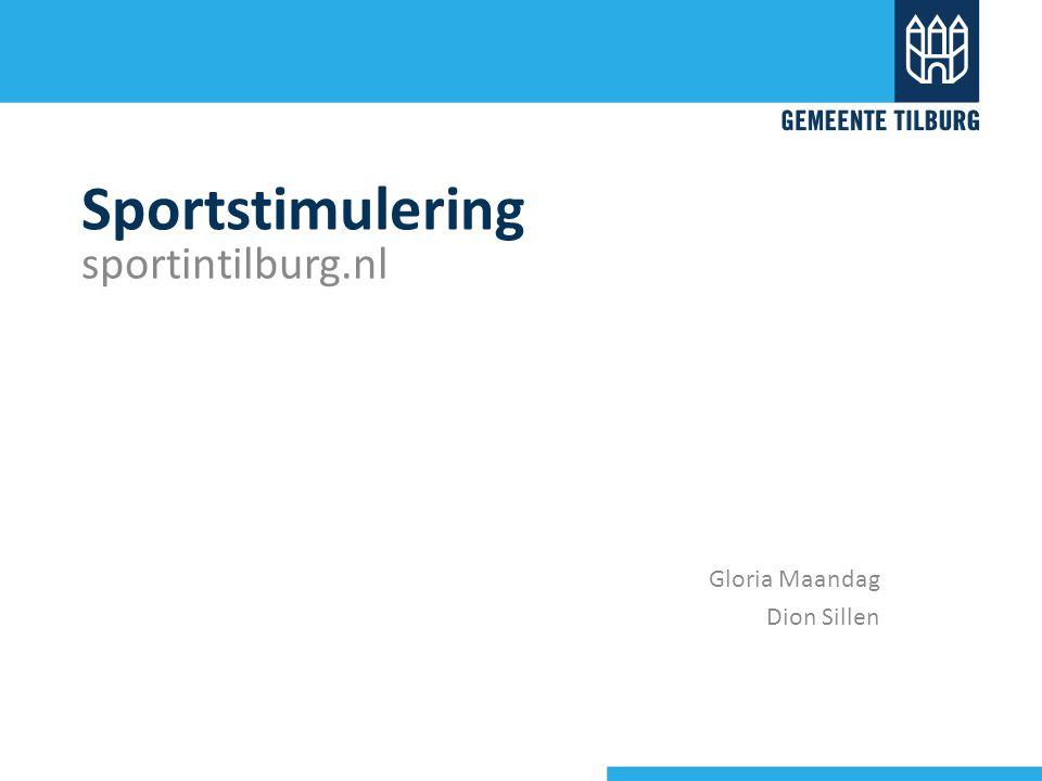 Sportstimulering sportintilburg.nl Gloria Maandag Dion Sillen