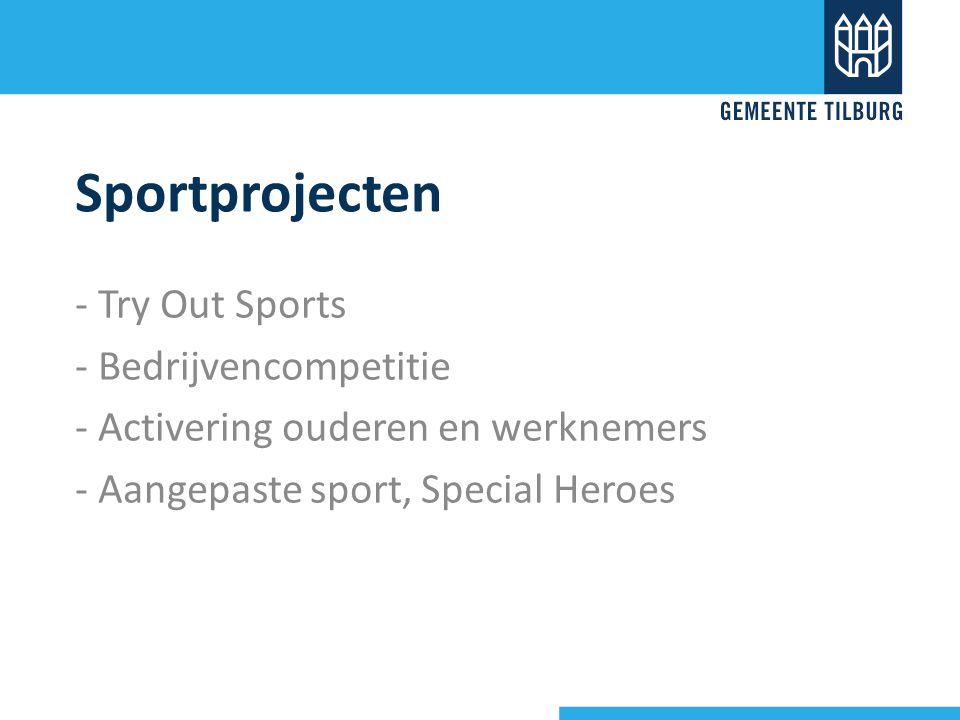 Sportprojecten - Try Out Sports - Bedrijvencompetitie - Activering ouderen en werknemers - Aangepaste sport, Special Heroes