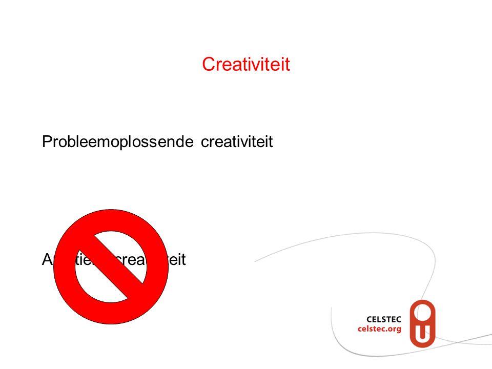 Creativiteit Probleemoplossende creativiteit Artistieke creativiteit