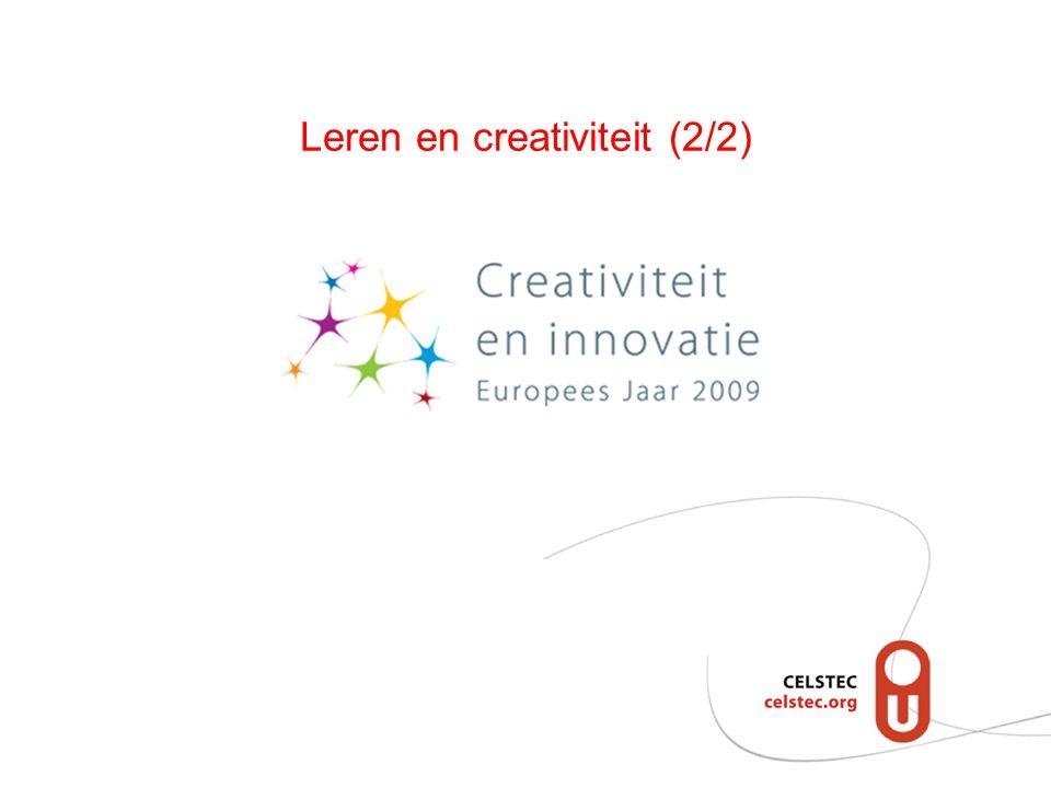 Leren en creativiteit (2/2)