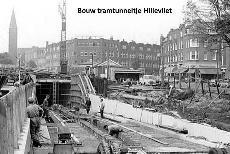 Bouw tramtunneltje Hillevliet