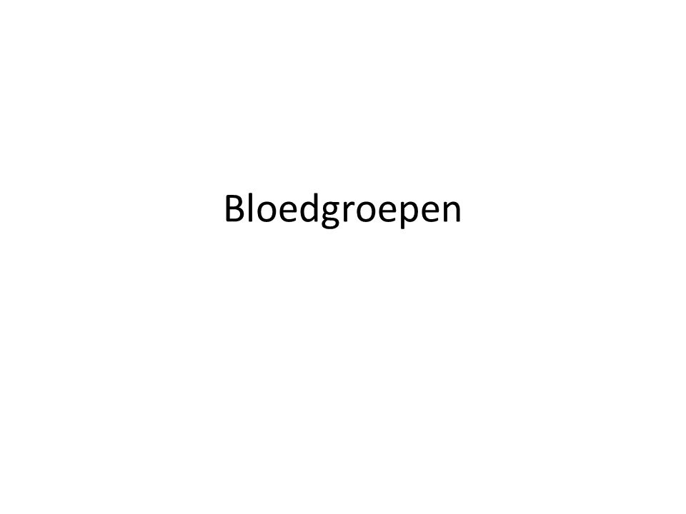 De bloedgroep = gen op chromosoom 9.