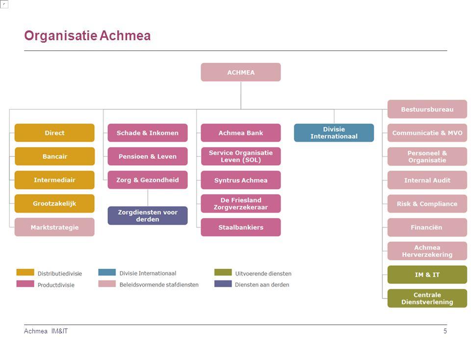5 Achmea IM&IT Organisatie Achmea