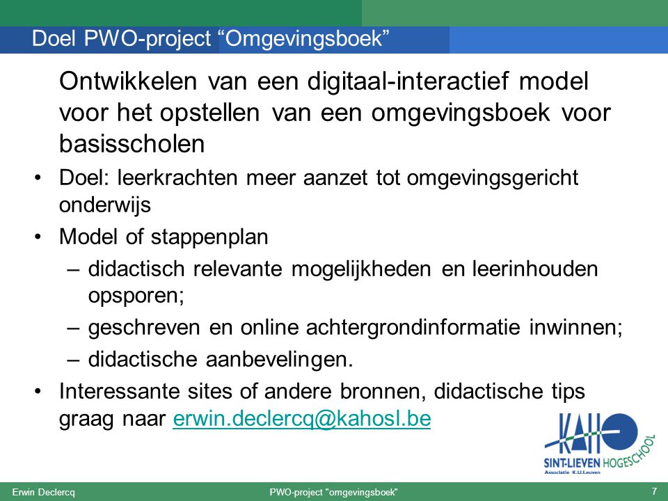 PWO-project