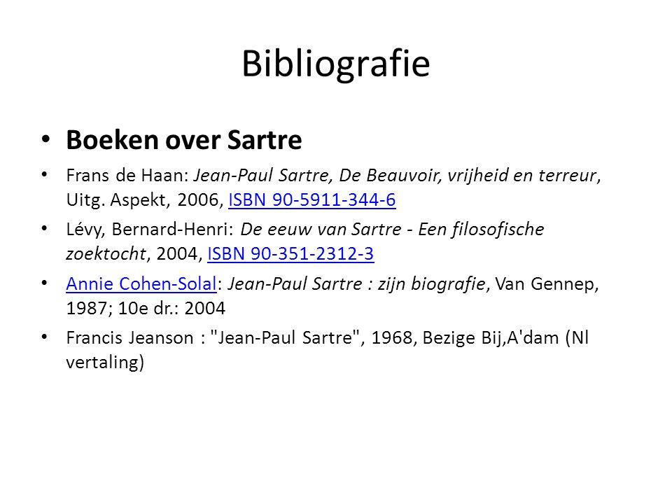 Bibliografie Boeken over Sartre Frans de Haan: Jean-Paul Sartre, De Beauvoir, vrijheid en terreur, Uitg.