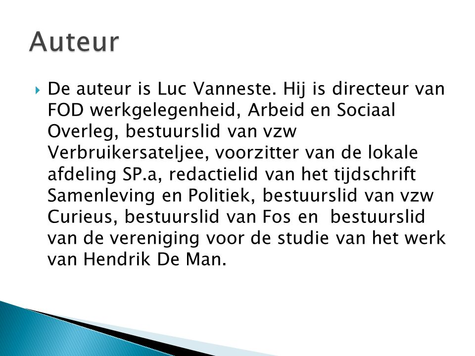  De auteur is Luc Vanneste.