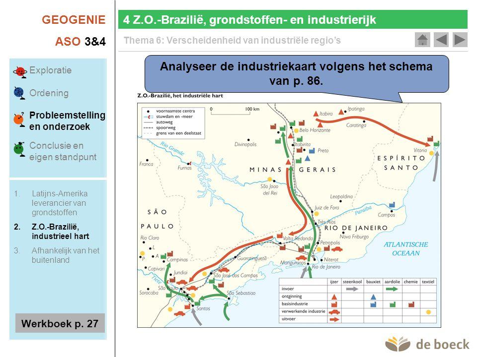 GEOGENIE ASO 3&4 Thema 6: Verscheidenheid van industriële regio's Analyseer de industriekaart volgens het schema van p.