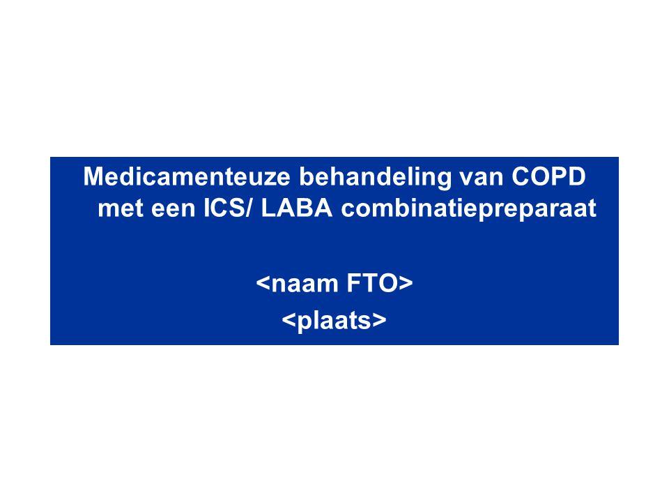 Medicamenteuze behandeling van COPD met een ICS/ LABA combinatiepreparaat