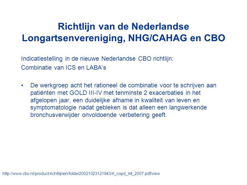 Richtlijn van de Nederlandse Longartsenvereniging, NHG/CAHAG en CBO Indicatiestelling in de nieuwe Nederlandse CBO richtlijn: Combinatie van ICS en LA