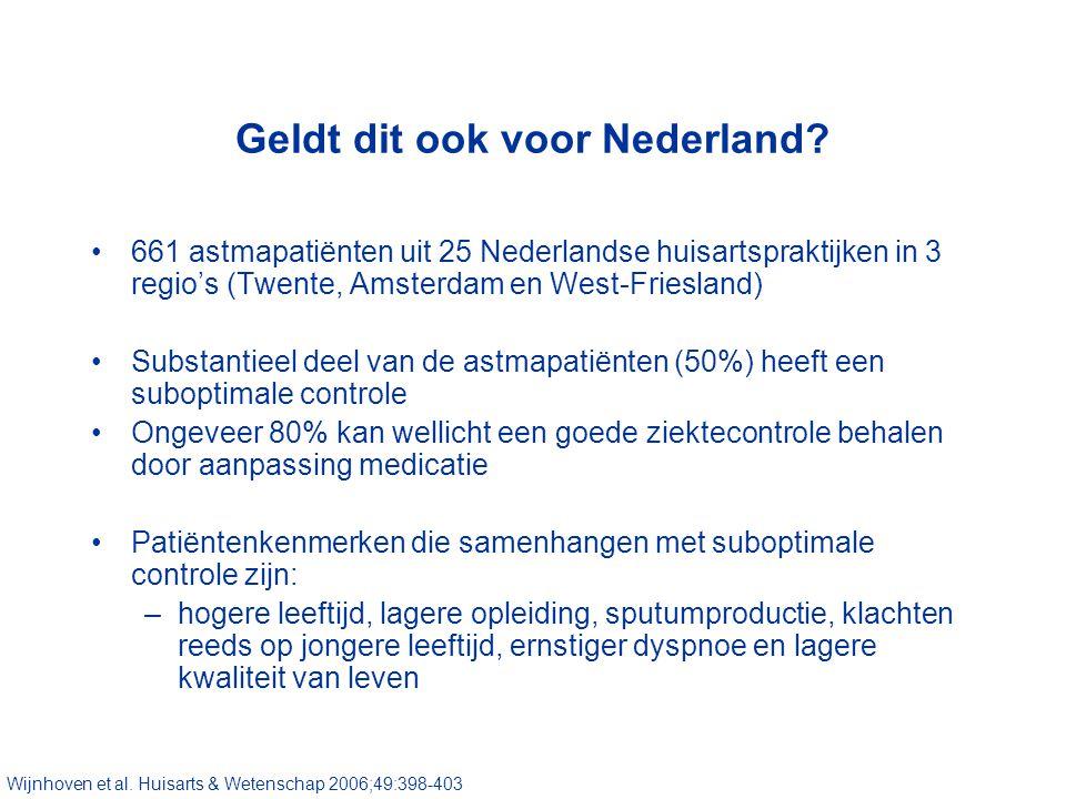 Geldt dit ook voor Nederland.
