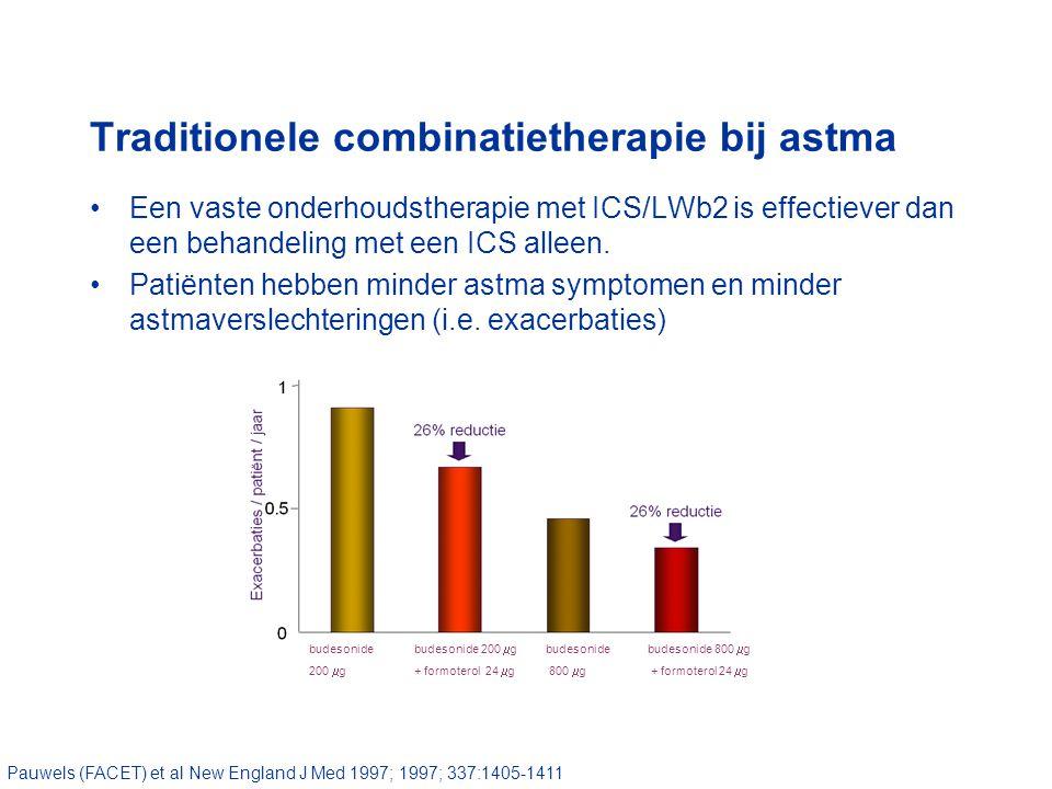 Een vaste onderhoudstherapie met ICS/LWb2 is effectiever dan een behandeling met een ICS alleen.