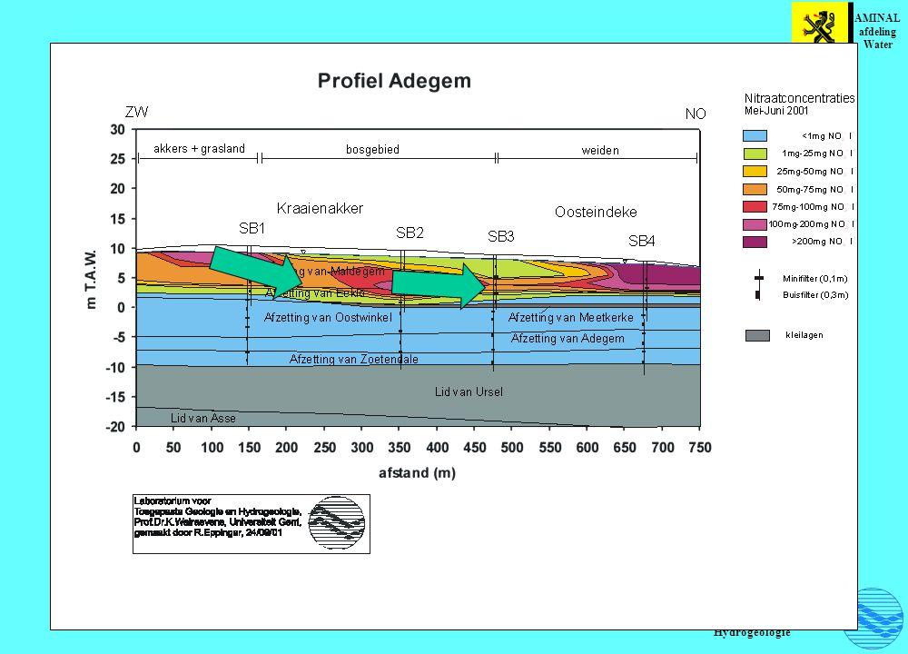 Vergelijking van de aanwezigheid van reducerende stoffen en anionenconcentraties op de testsite Peer AMINAL afdeling Water Laboratorium voor Toegepaste Geologie en Hydrogeologie