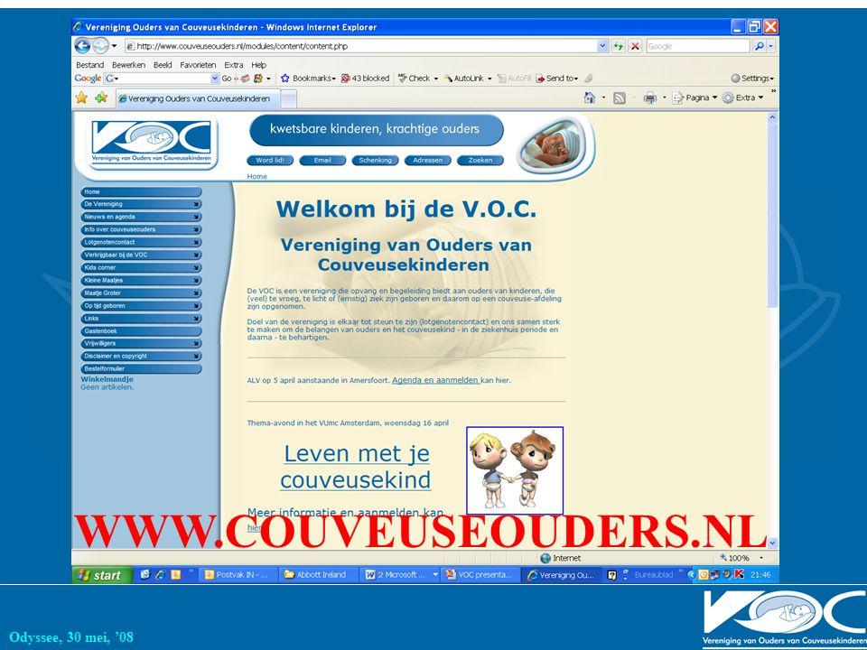 Odyssee, 30 mei, '08 WWW.COUVEUSEOUDERS.NL