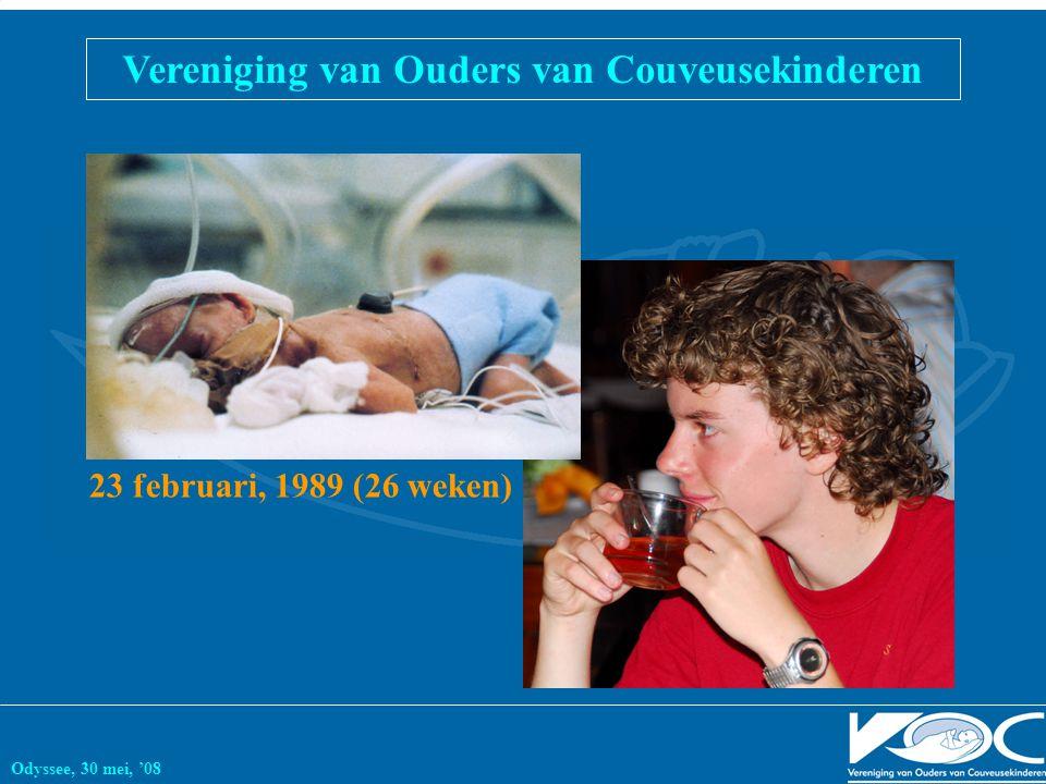 Vereniging van Ouders van Couveusekinderen Odyssee, 30 mei, '08 23 februari, 1989 (26 weken)