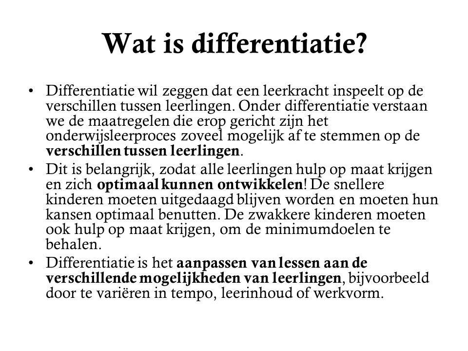 Wat is differentiatie.