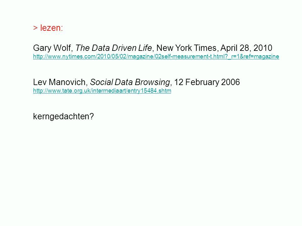 3.De macht van data: data als 'subjectieve bewijsvoering' - zijn data 'beautiful evidence'.