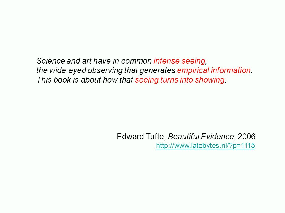 Science and art have in common intense seeing, the wide-eyed observing that generates empirical information.