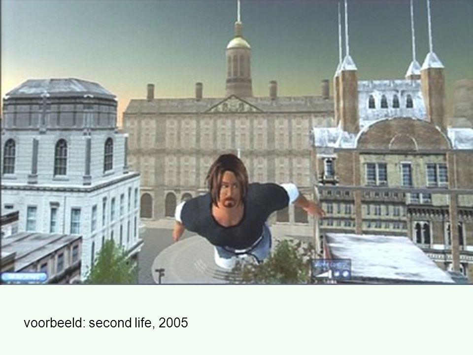 voorbeeld: second life, 2005