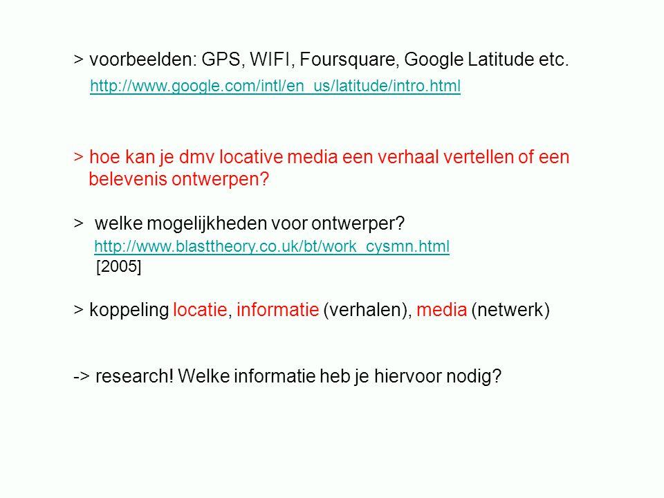 publiek > mobiel en nomadisch > overal online > > integratie van mens, media en omgeving > > welke relatie tot de omgeving.