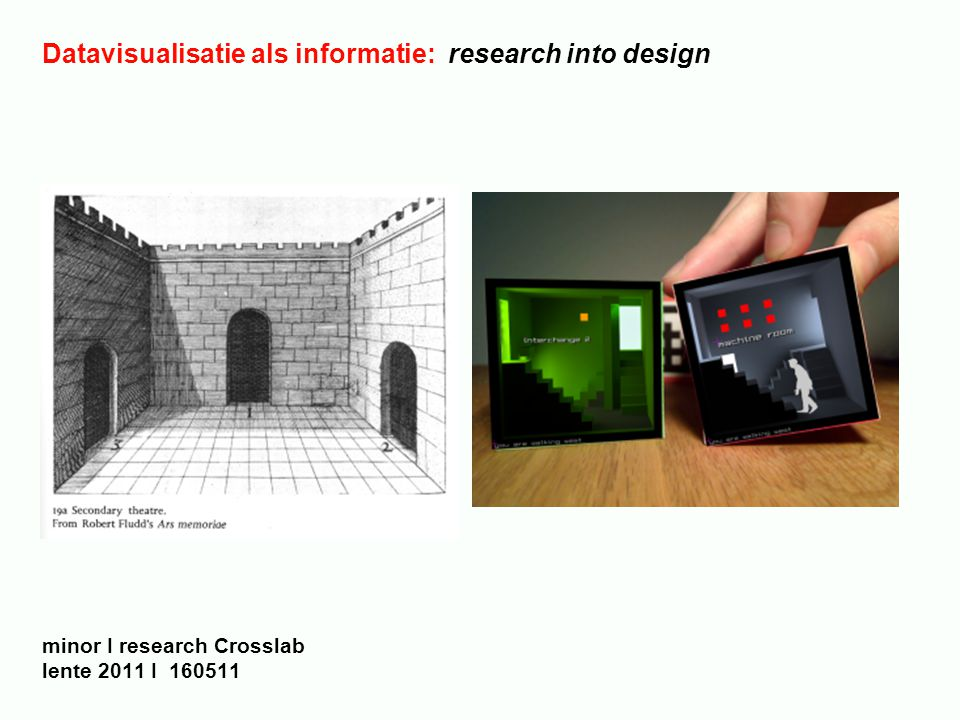 Datavisualisatie als informatie: research into design minor I research Crosslab lente 2011 I 160511