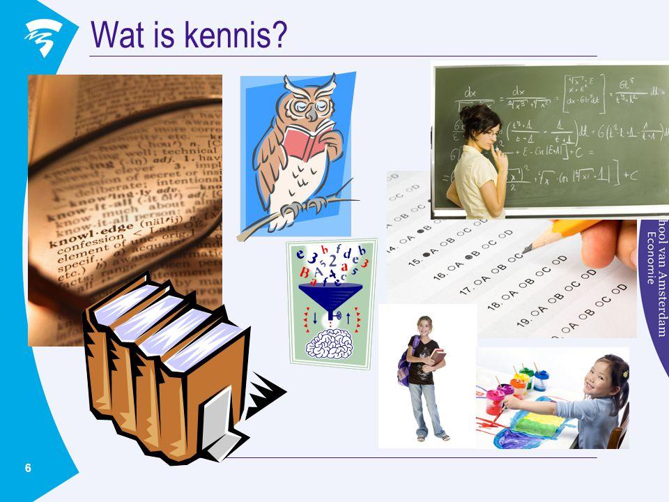 6 Wat is kennis?