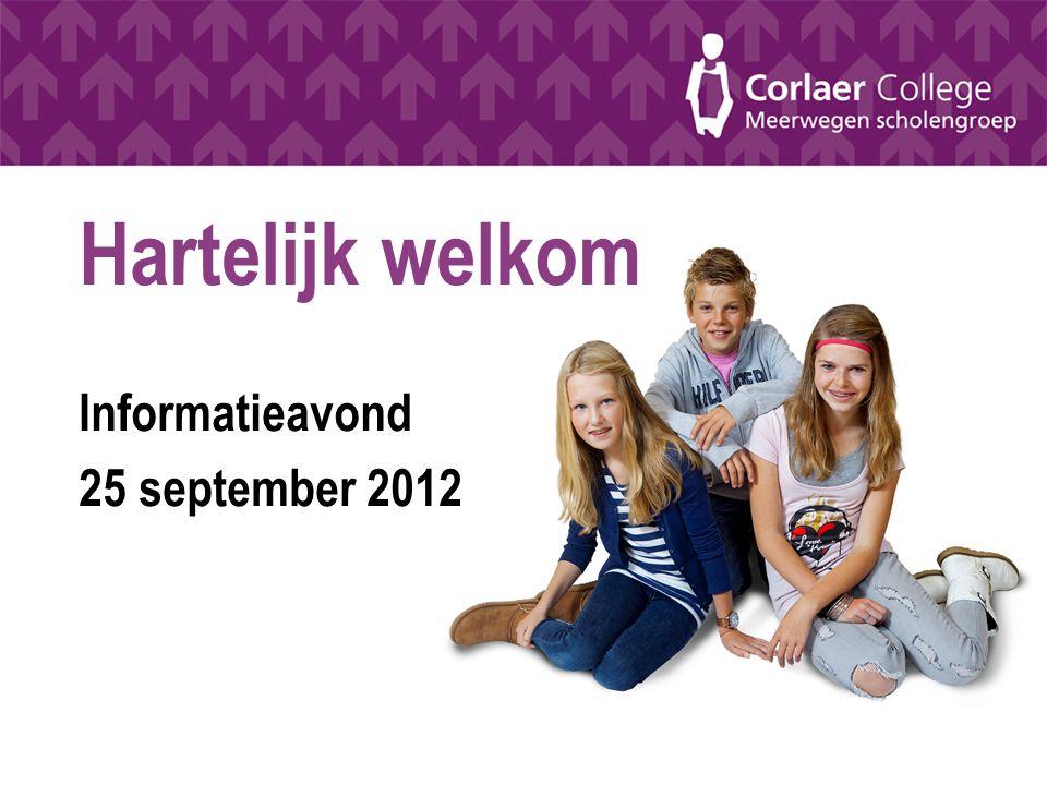 Hartelijk welkom Informatieavond 25 september 2012