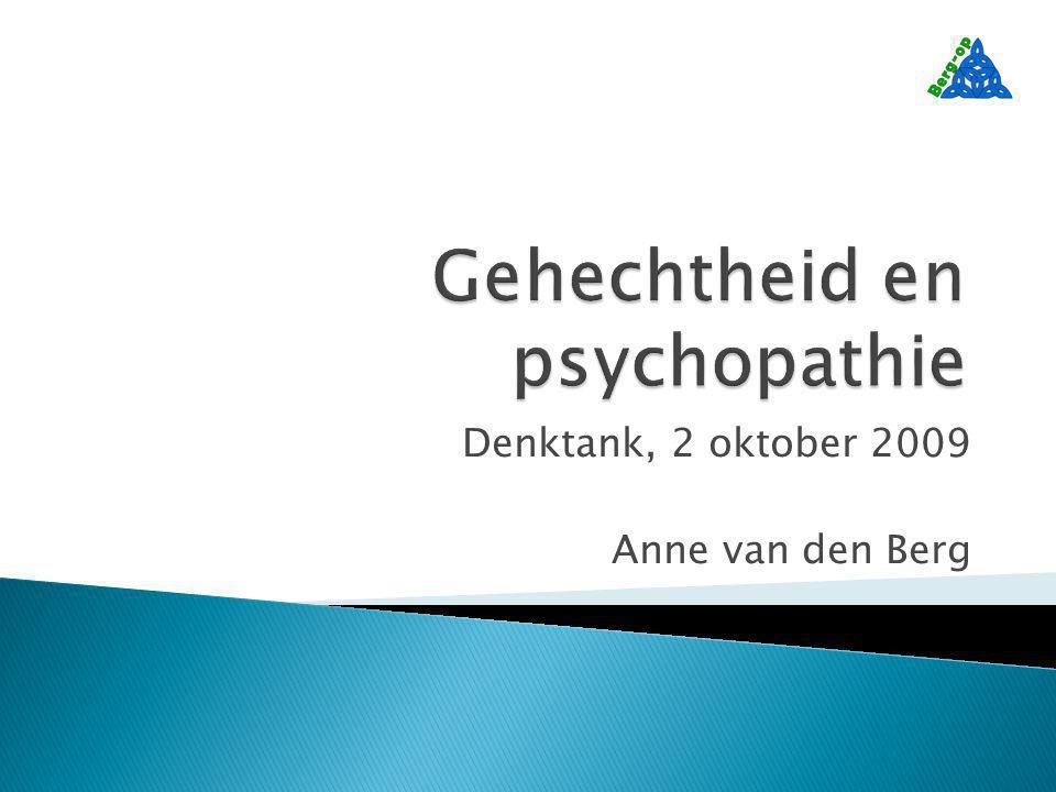 Denktank, 2 oktober 2009 Anne van den Berg