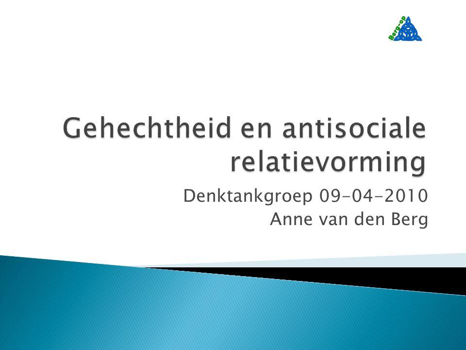 Denktankgroep 09-04-2010 Anne van den Berg