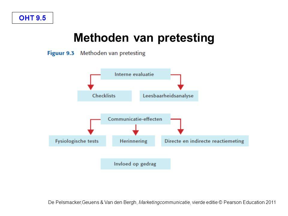 OHT 9.6 De Pelsmacker,Geuens & Van den Bergh, Marketingcommunicatie, vierde editie © Pearson Education 2011 Een checklist voor de kwalitatieve interne pretesting van reclame