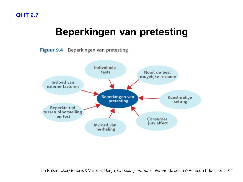 OHT 9.8 De Pelsmacker,Geuens & Van den Bergh, Marketingcommunicatie, vierde editie © Pearson Education 2011