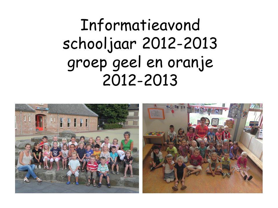 Informatieavond schooljaar 2012-2013 groep geel en oranje 2012-2013