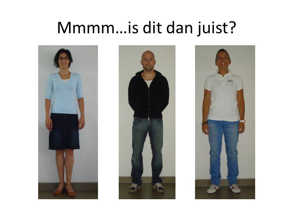 Neen…zoek de fout.Hemd en polo zijn geen donkerblauw of wit.