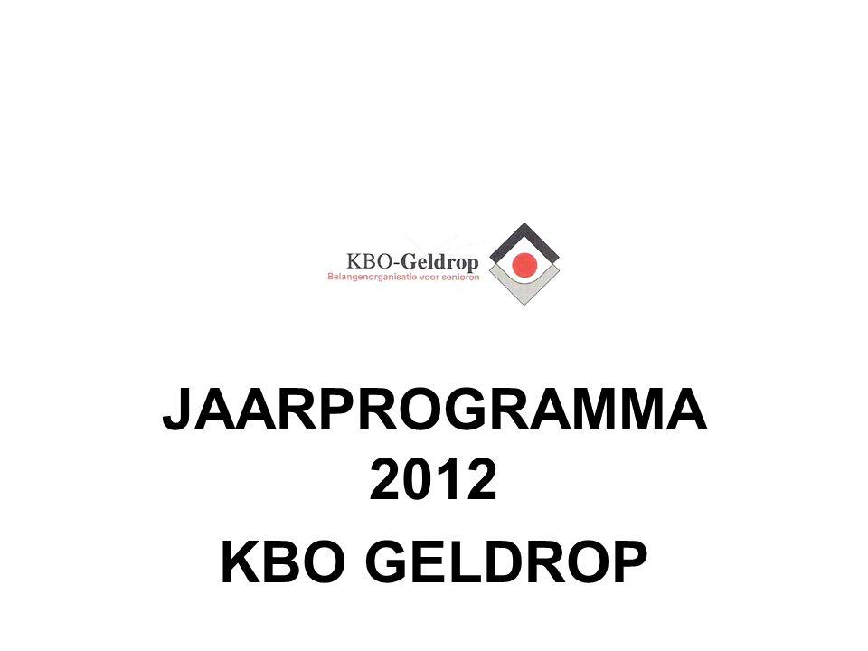 JAARPROGRAMMA 2012 KBO GELDROP