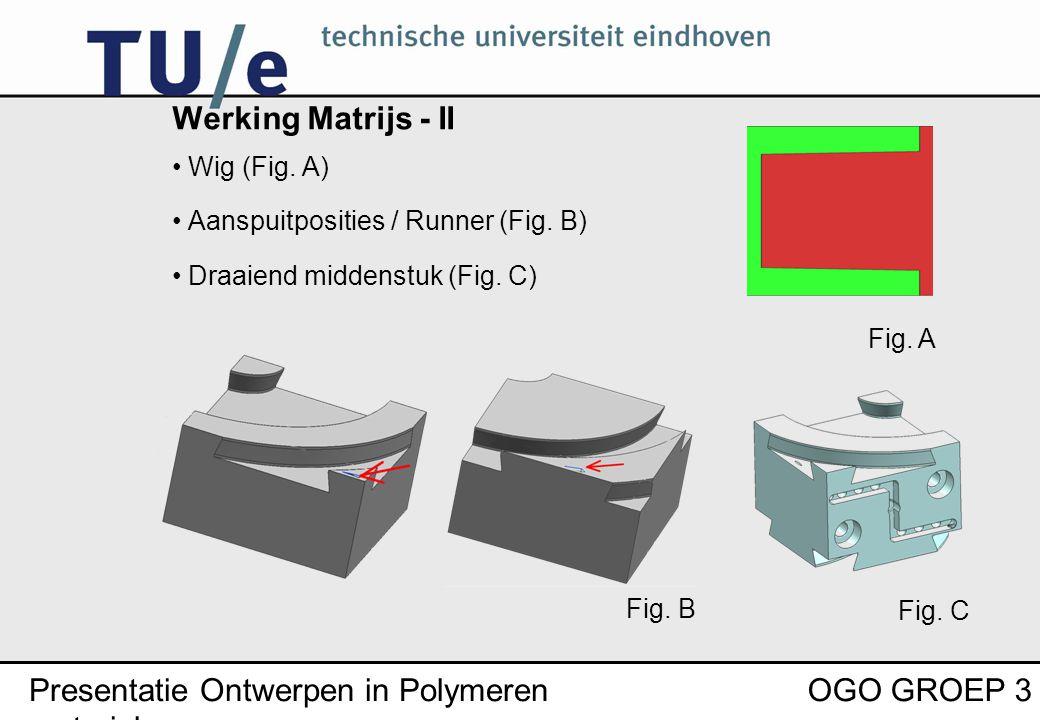 Presentatie Ontwerpen in Polymeren materialen OGO GROEP 3 Werking Matrijs - II Wig (Fig.