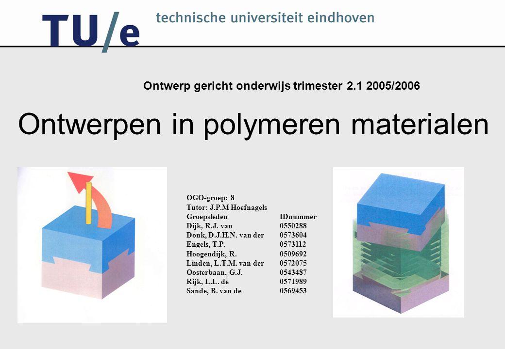 De volgende onderdelen worden behandeld De zwaluwstaartkubus Polymeerkeuze Het matrijsontwerp De randvoorwaarden Het ontwerp Onderdelen in matrijs Moldflow Evaluatie