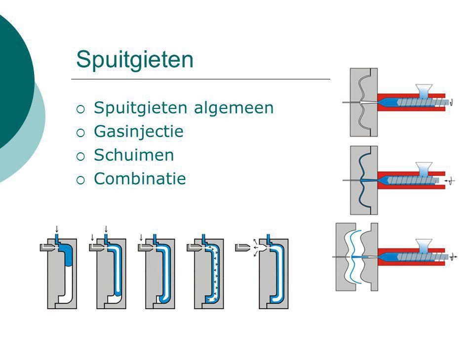 Materiaalkeuze en krimp  4 Materialen: Polystyreen (PS) Polycarbonaat (PC) Acrylonitril-Butadieen-Styreen (ABS) Polypropyleen (PP)  ABS versus PC  Krimp