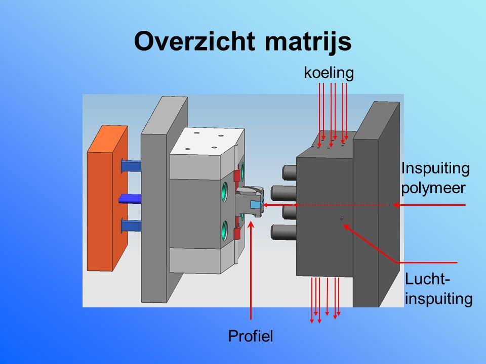 Overzicht matrijs Inspuiting polymeer koeling Lucht- inspuiting Profiel