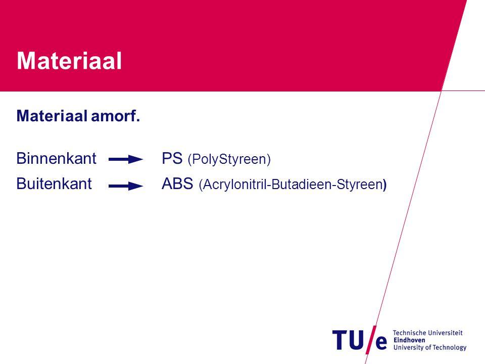Materiaal Materiaal amorf.
