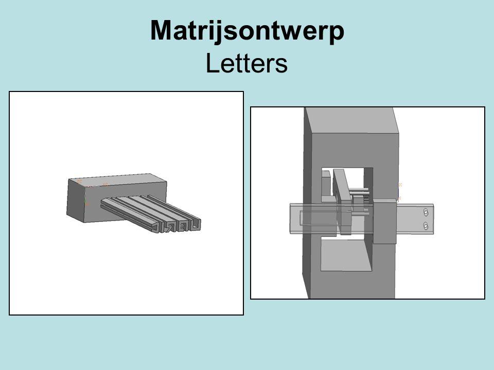 Matrijsontwerp Letters