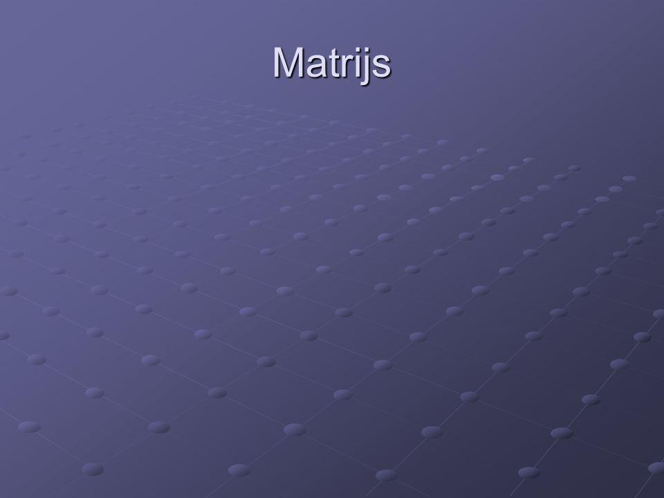 Matrijs