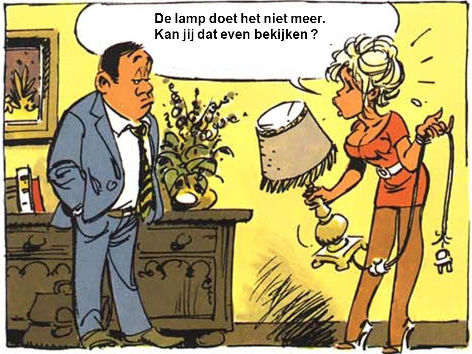 De lamp doet het niet meer. Kan jij dat even bekijken
