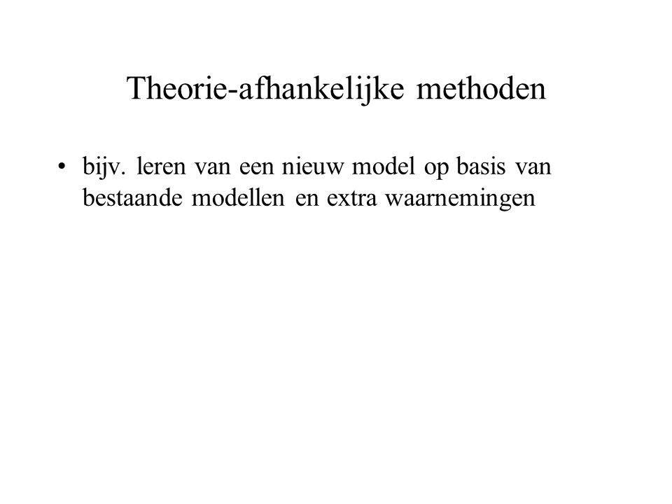 Theorie-afhankelijke methoden bijv. leren van een nieuw model op basis van bestaande modellen en extra waarnemingen
