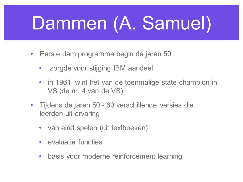 Dammen (A. Samuel) Eerste dam programma begin de jaren 50 zorgde voor stijging IBM aandeel in 1961, wint het van de toenmalige state champion in VS (d