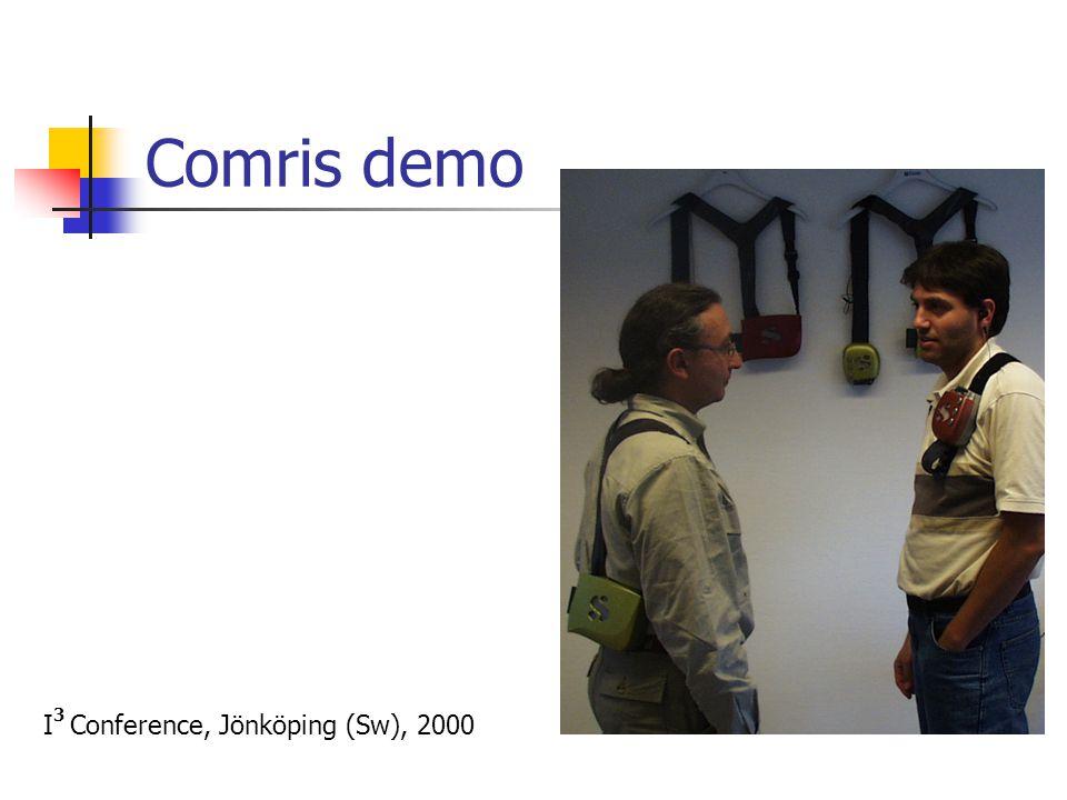 Comris demo I 3 Conference, Jönköping (Sw), 2000